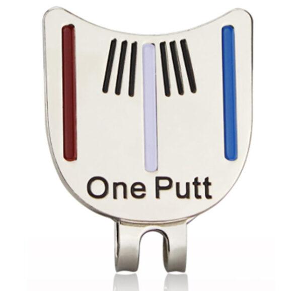 Golfbal marker one putt