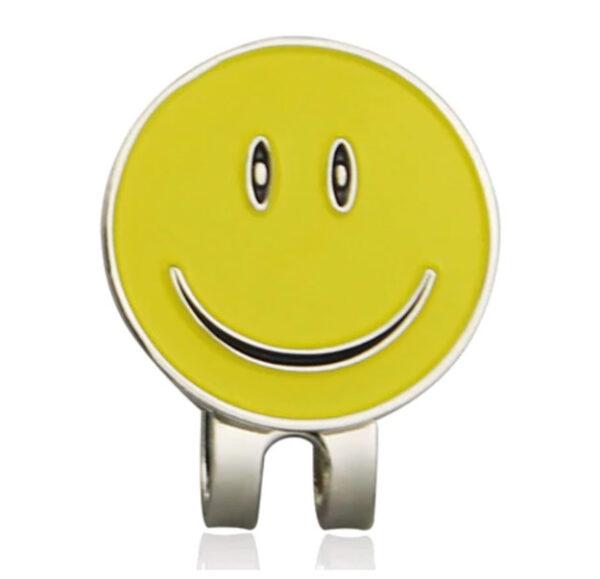 Golfbal marker smiley